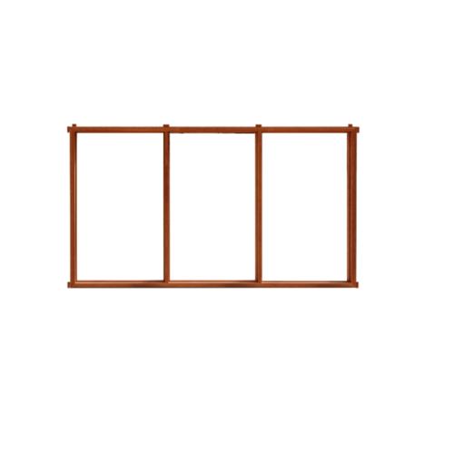 MAZTERDOOR  วงกบหน้าต่างไม้แคมปัส(2x4)3ช่อง  ขนาด 60x130ซม.