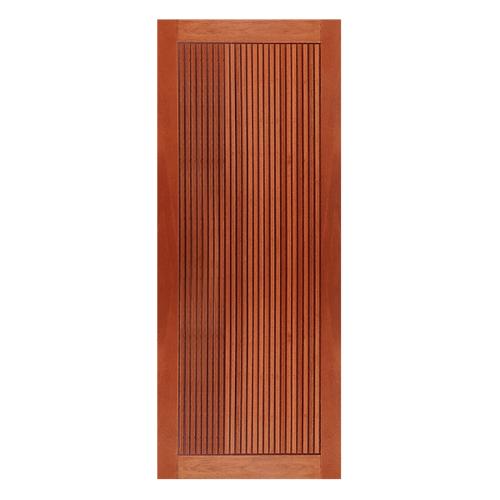 MAZTERDOOR  ประตูไม้เนื้อแข็งบานทึบทำร่อง ขนาด 90x200ซม.    NM-07