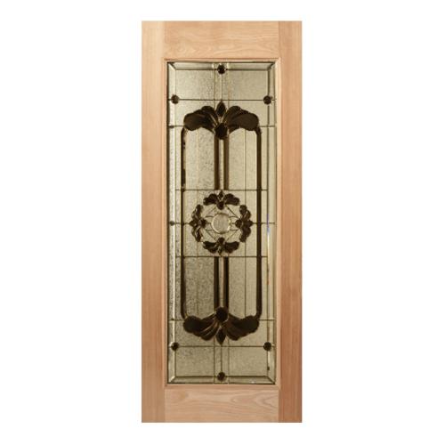 MAZTERDOOR  ประตูไม้เนื้อแข็งพร้อมกระจกเต็มบาน ขนาด 107x200ซม. LOTUS-06