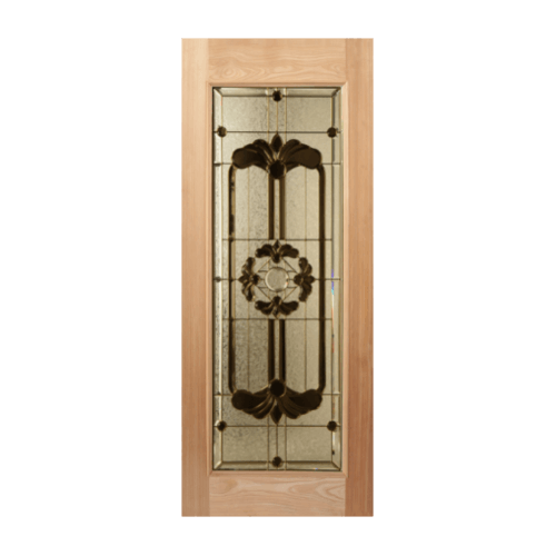 MAZTERDOOR ประตูกระจกไม้เนื้อแข็ง ขนาด 120x200ซม. LOTUS-06