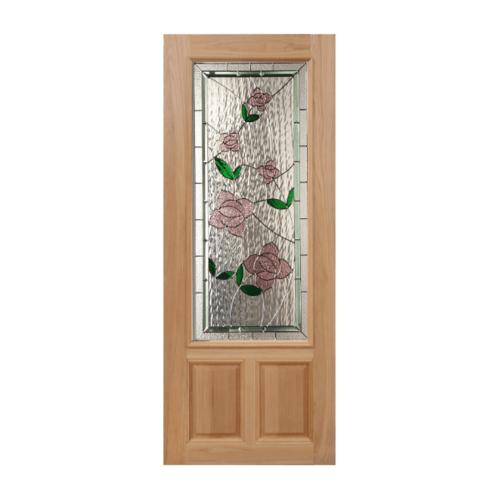 Masterdoors ประตูไม้นาตาเซีย ขนาด 90x200 cm.  Lotus-09