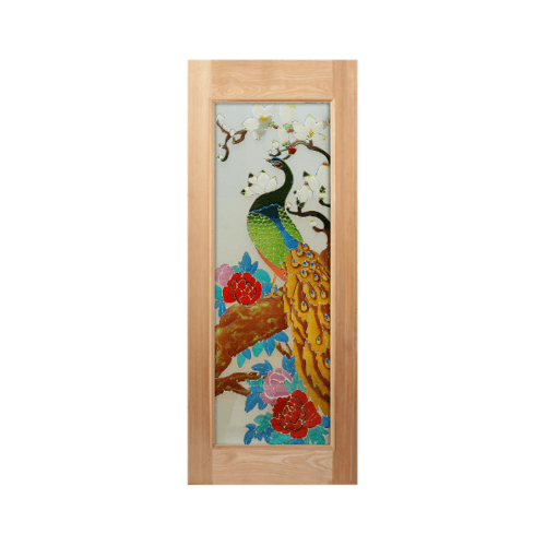 MAZTERDOOR ประตูไม้สยาแดง ขนาด 90x200 cm.  Art-03