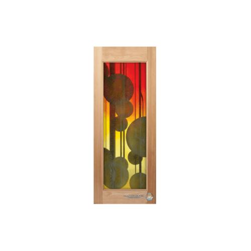 Masterdoors ประตูไม้สยาแดง กระจกบานเรียบ  70x200cm.  MASTER-014