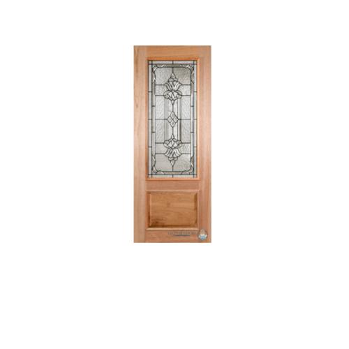 Masterdoors ประตุูกระจกนิรภัยไม้สยาแดง ขนาด  ขนาด 100x242 cm. LOTUS-10