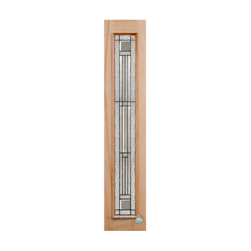 Masterdoors ประตูไม้สยาแดง บานเรียบพร้อมกระจกนิรภัย 60x242cm.  JASMINE-08