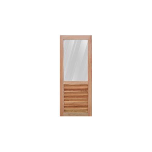 Masterdoors ประตุกระจกไม้สยา ขนาด 70x200 cm.  MD-08/2