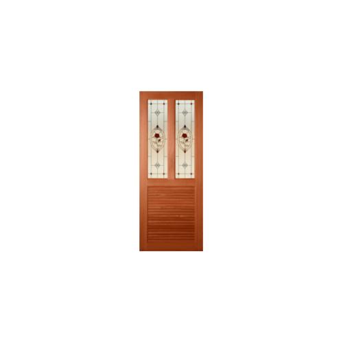 Masterdoors ประตูไม้สยาแดง ขนาด 79.2x195  SS-3/3