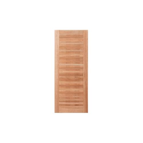 Masterdoors ประตูไม้สยาแดง บานทึบทำร่อง ขนาด 100x200cm.  NM-08