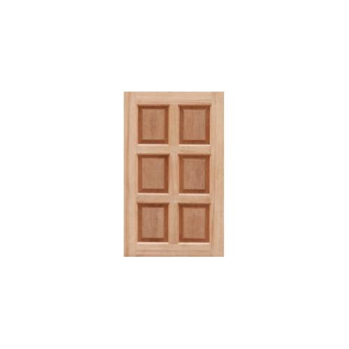 Masterdoors บานหน้าต่างไม้สยาแดง บานทึบ6ฟักขนาด46x100cm -