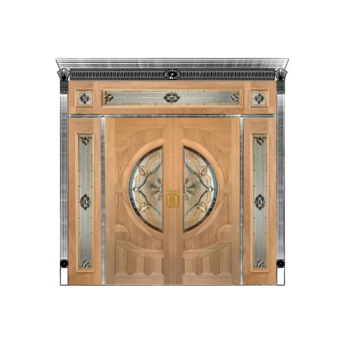 Masterdoors ประตูไม้สยาแดง SET 4 ขนาด240x245cm. ทำสี S-04   VANDA-02