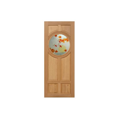 Masterdoors ประตูไม้สยาแดง ลูกฟักพร้อมกระจก ขนาด100x200cm.  Master-C01