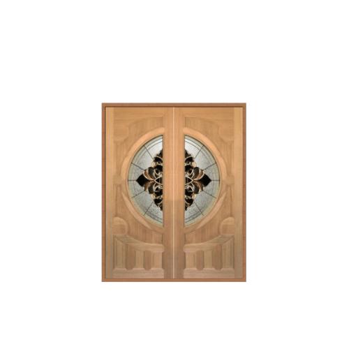 Masterdoors ประตูกระจกไม้สยาแดง ขนาด 75x200cm Vanda-05
