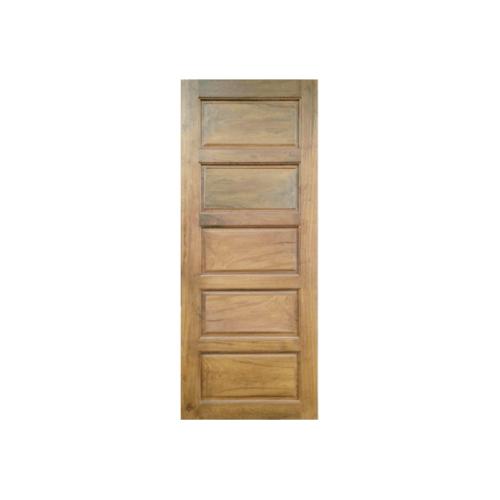 MAZTERDOOR ประตูไม้สยาแดง บานทึบ 5ฟักนอน  ขนาด 80x200ซม.