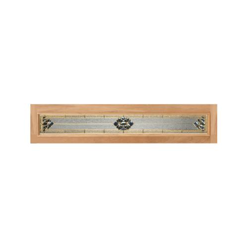 MAZTERDOOR ประตูกระจกไม้สยาแดง  (upper-side) ขนาด  40x265cm. Jasmine-05