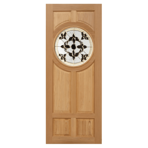 MAZTERDOOR ประตูกระจกไม้สยาแดง ขนาด 100x200 cm.  DAISY-01