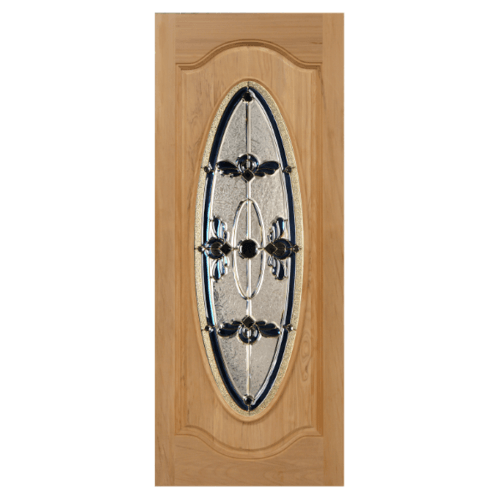 MAZTERDOOR ประตูกระจกไม้เนื้อแข็ง 100x200 cm.  Orchid-07