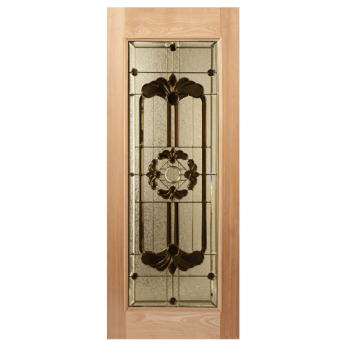 Masterdoors ประตูกระจกสยาแดง ขนาด 80x200cm. LOTUS-06