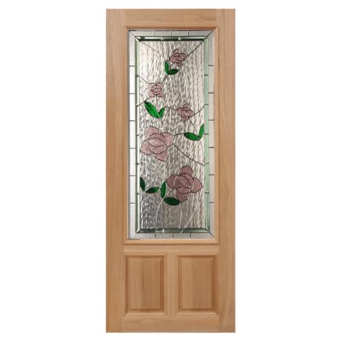 MAZTERDOOR ประตูไม้นาตาเซีย ขนาด 100x200 cm. LOTUS-09