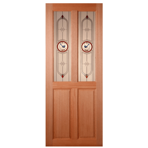MAZTERDOOR ประตูกระจกไม้สยาแดง ขนาด 100x200 cm.  SS-02/1