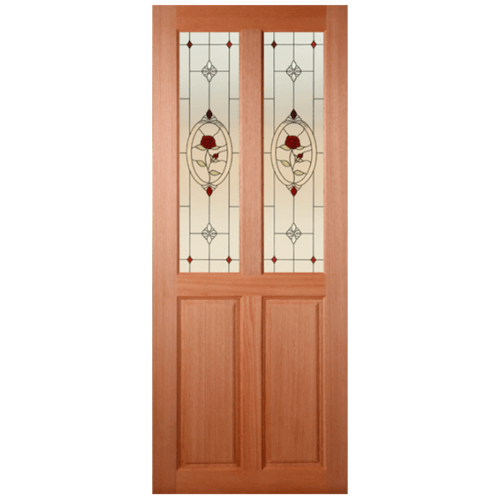 MAZTERDOOR ประตูกระจกไม้สยาแดง ขนาด 100x200 cm. SS-02/3