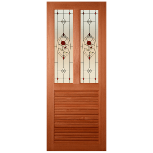 MAZTERDOOR ประตูไม้สยาแดง  ขนาด 90x200 cm. ss-03/3