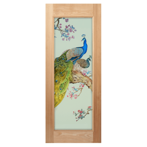MAZTERDOOR ประตูกระจกไม้สยาแดง  100x200 cm. MASTER-016