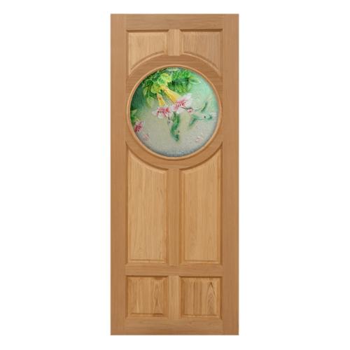 MAZTERDOOR ประตูกระจกไม้นาตาเซีย ขนาด 100x200 cm. Master-C03