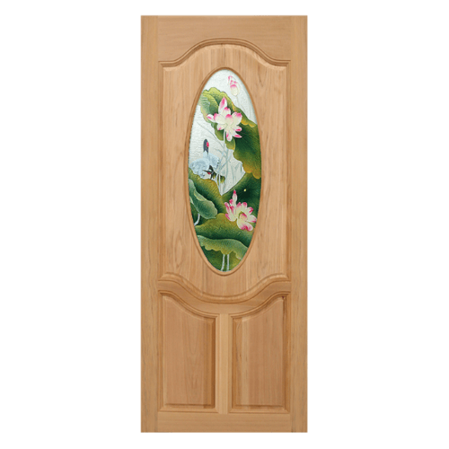 MAZTERDOOR ประตูไม้นาตาเซีย ขนาด 100x200 cm. Master-V02