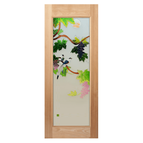 MAZTERDOOR ประตูกระจกไม้สยาแดง   ขนาด 100x200 cm. ART-05