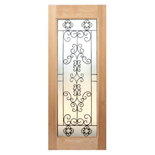 MAZTERDOOR ประตูกระจกไม้สยาแดง  90x200cm.  STMD-003