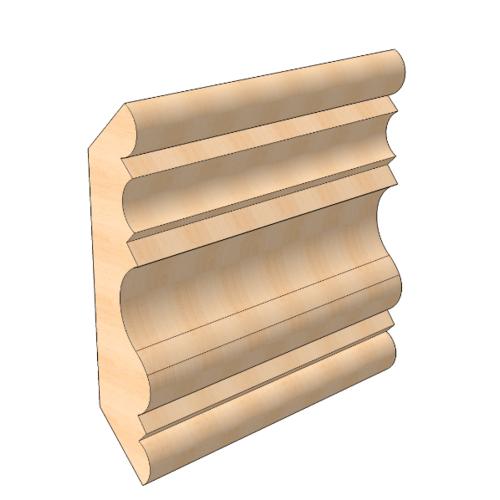 MAZTERDOOR ไม้สัก  (ลายมาก) ขนาด 5/8x3x6.5 ฟุต M.0906