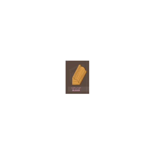 MAZTERDOOR ไม้คิ้วไม้เปอร์เชีย M0509 เว้านูน 1/2x1/2X2.00ม. ไม้คิ้วไม้เปอร์เชีย M0509 เว้านูน 1/2x1/2X2.00ม.