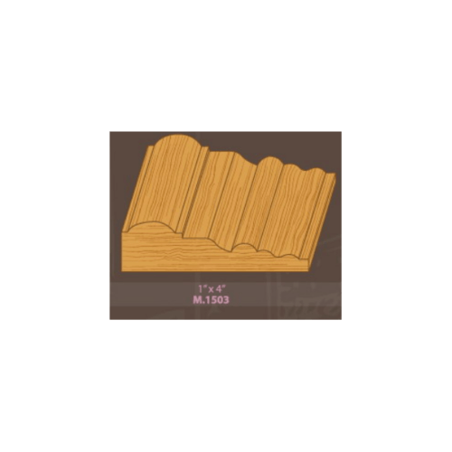 MAZTERDOOR ไม้เปอร์เซีย บัวซับวงกบ ขนาด 1x4x3.0 cm M.1503