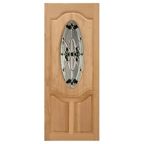 MAZTERDOOR ประตูกระจกไม้สยาแดง  90x200 cm. orchid-08