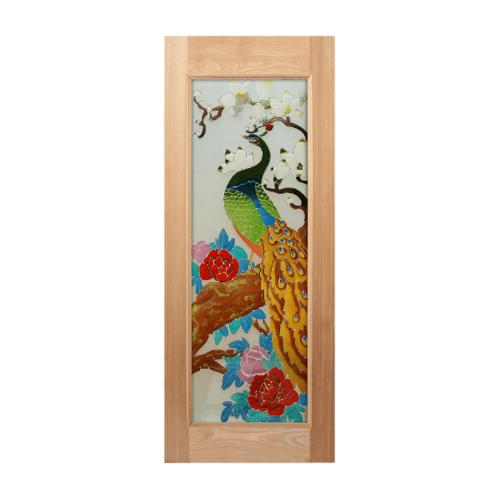 MAZTERDOOR ประตูไม้สยาแดง ขนาด 130x200 cm. ART-03
