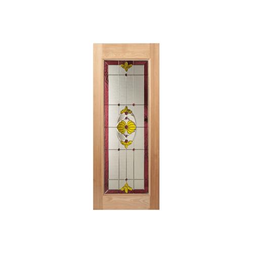 MAZTERDOOR ประตูกระจกไม้นาตาเซีย ขนาด 90x200 cm. LOTUS-05