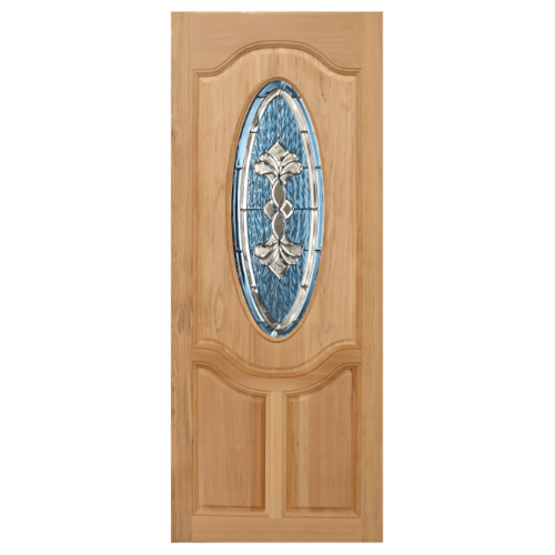 MAZTERDOOR ประตูไม้สยาแดง  ขนาด 80x180  cm. ORCHID-09