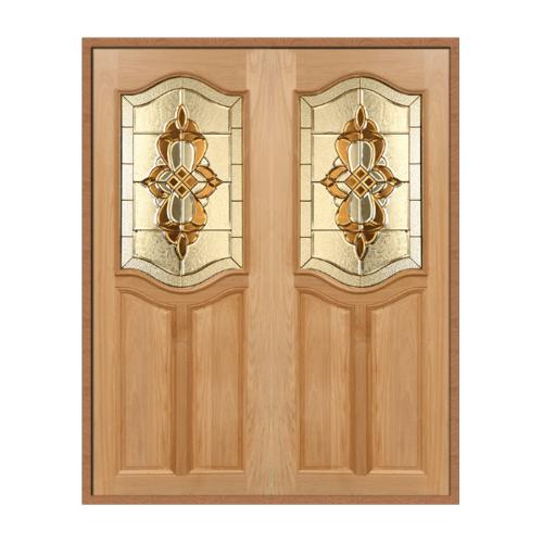 MAZTERDOOR SET 1 ประตูกระจกไม้สยาแดง  ขนาด  140x200 cm. GENUS-02