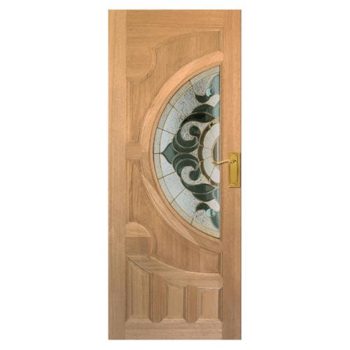 MAZTERDOOR ประตูกระจกไม้สยาแดง  ขนาด 90x206 cm. VANDA-01
