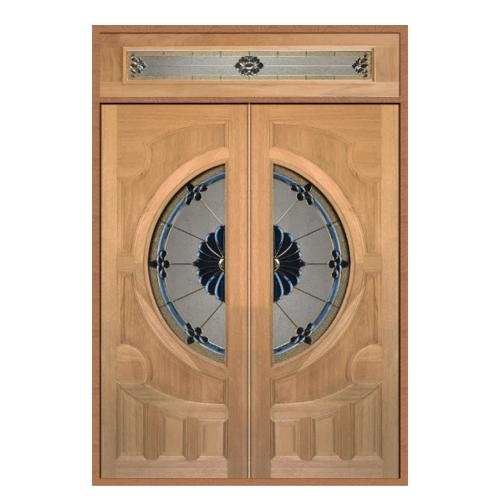 MAZTERDOOR SET 2 ประตูไม้สยาแดง   ขนาด 180x240  VANDA-06