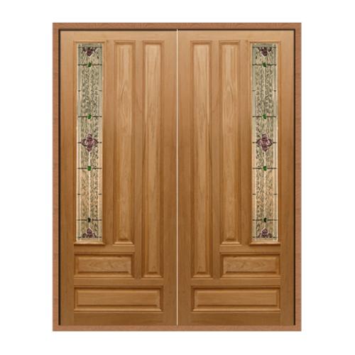 MAZTERDOOR SET 1ประตูไม้สยาแดง ขนาด160x200 cm. Jasmine-06A