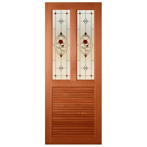 MAZTERDOOR ประตูกระจกสยาแดง ขนาด  68.5x199.5  cm. SS-03/3