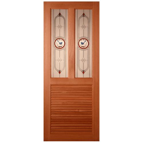 MAZTERDOOR ประตูกระจกสยาแดง ขนาด  70x200cm.   SS-03/1