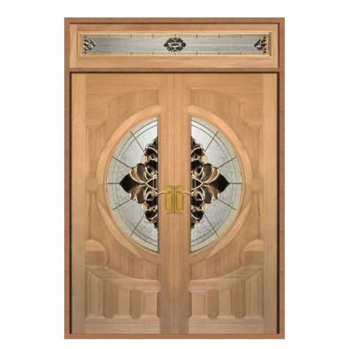 MAZTERDOOR วงกบประตูไม้เนื้อแข็ง SET 3 ขนาด 180x200 cm. VANDA-05