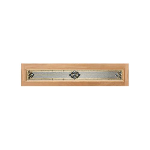 MAZTERDOOR ประตูกระจกสยาแดง upper-side ขนาด 42x184cm.  Jasmine-05