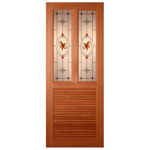 MAZTERDOOR ประตูไม้สยาแดงขนาด 70x200cm.  SS-03/2