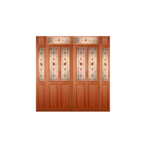 MAZTERDOOR SET 4 ประตูไม้สยาแดง  ขนาด 100x200 cm. SS-02/2