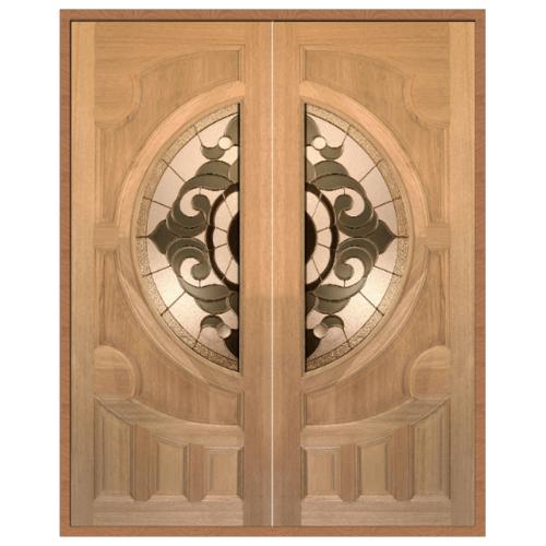 MAZTERDOOR SET 1 ประตูสยาแดง ขนาด 180x200  cm.  VANDA-01