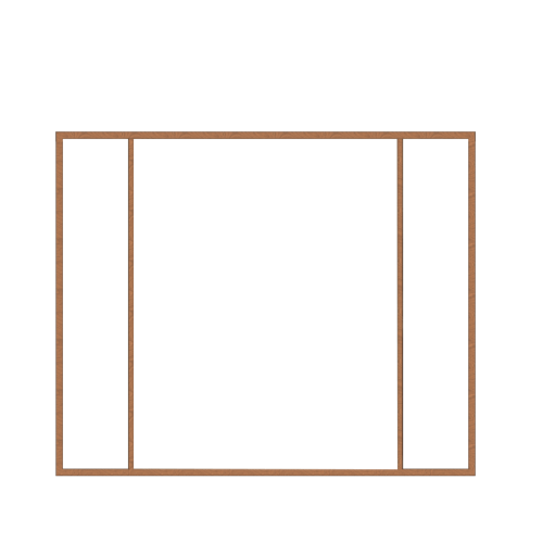 MAZTERDOOR วงกบประตู SET 3  ขนาด 200x200 ซม. -