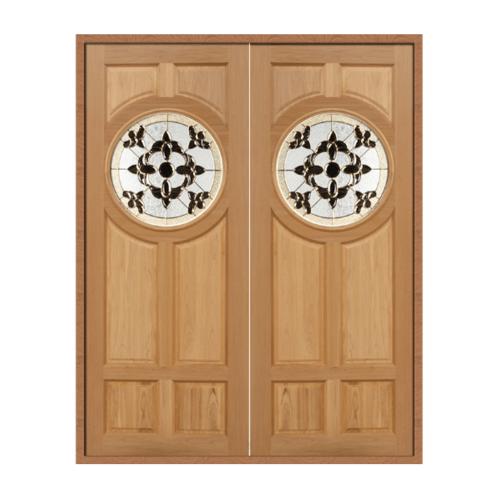 MAZTERDOOR ประตูกระจกสยาแดง ขนาด 90x200cm.  DAISY-01